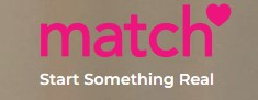 logo & tagline for Match dating website